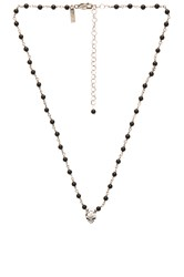 Natalie B Jewelry Back To Back Skull Charm Necklace Metallic Silver