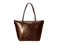 Lacoste L.12.12 Concept Shiny Tote Bag Coffee Bean Tote Handbags Brown