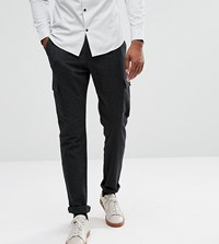 Selected Homme Tall Cargo Trouser With Fleck Detail Moonless Night Black
