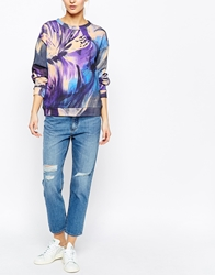 Weekday Ami Ankle Length Slim Boyfriend Jeans With Rips Blue