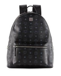 Mcm Stark Side Stud Medium Backpack Black