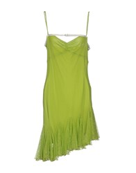 John Richmond Knee Length Dresses Green