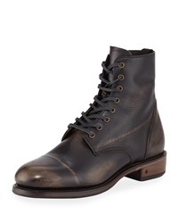 John Varvatos Folsom Leather Lace Up Boot Brown