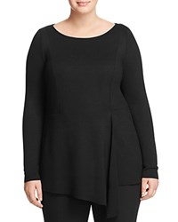 Marina Rinaldi Via Draped Front Tee Black