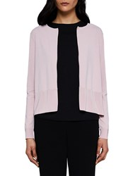Ted Baker Jacsum Pleated Back Cardigan Pale Pink
