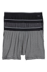 Nordstrom 'S Men's Shop 3 Pack Boxer Briefs Grey Black Zig Zag