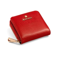 Aspinal Of London Mini Continental Zipped Coin Purse Berry