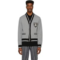 Dolce And Gabbana Black White Houndstooth Cardigan