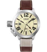 U Boat 8051 Classico Multi Coloured Brown Leather Strap Watch