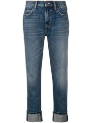 Current Elliott Faded Cropped Jeans Blue