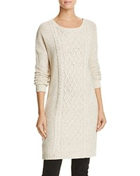 Bb Dakota Jack By Macey Speckled Cable Knit Sweater Dress Ivory