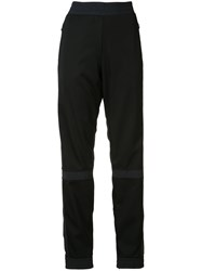 Paco Rabanne Contrast Panel Track Pants Black