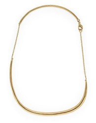 Botkier Ride The Wave Abstract Bar Necklace Gold