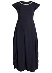 High Balloon Navy Jersey Dress