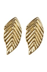 Lucky Brand Sterling Silver Leaf Stud Set Set Of 2 Metallic