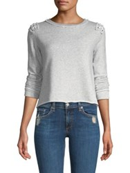 Generation Love Laurie Lace Up Sweatshirt Grey