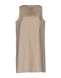 Moschino Cheap And Chic Short Dresses Light Grey