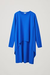 Cos Long Sleeved Layered Dress Blue