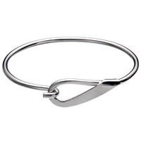 Andea Sterling Silver Hook Open Bangle Silver