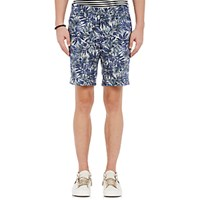 Barneys New York Men's Micro Canvas Shorts Blue
