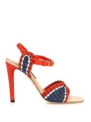 Chrissie Morris Ann Basket Weave Leather Sandals