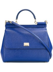 Dolce And Gabbana Large 'Sicily' Tote Blue
