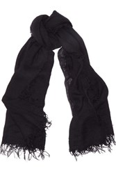 Chan Luu Cashmere And Silk Blend Scarf Black