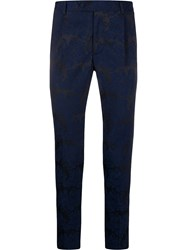 Daniele Alessandrini Crack Effect Tailored Trousers 60