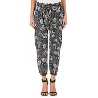 Ulla Johnson Women's Gauze Jakarta Cargo Pants Black White Black White