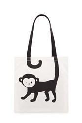 Forever 21 Monkey Graphic Tote Bag Beige Black