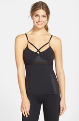Solow Contrast Insets Tank Black
