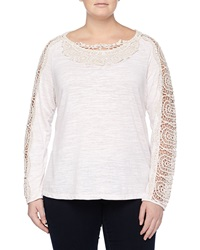 Xcvi Crochet Detailed Slub Knit Tunic Sugar
