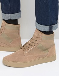 Kg By Kurt Geiger Apicella Suede Hitop Trainers Tan