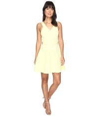 Adelyn Rae Andrea Woven Fit And Flare Dress Light Yellow Women's Dress