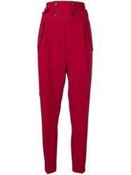N 21 No21 High Waisted Trousers Red