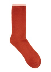 Norse Projects Orange Merino Wool Socks