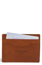 Rag And Bone Men's Leather Card Case Brown