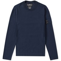 Stone Island Shadow Project Crepe Cotton Crew Knit Blue