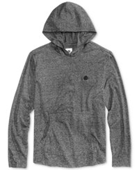 Element Men's Marlon Heathered Hoodie T Shirt Charcoal