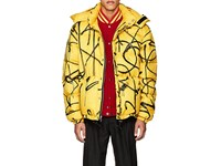 Adaptation Saber Spray Painted Down Quilted Coat Yellow