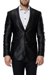 Maceoo Men's Elegance Black Cosign Sport Coat