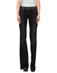 Galliano Denim Denim Trousers Women Black