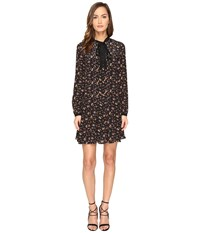 Mcq By Alexander Mcqueen Pintuck Pussybow Dress Vintage Floral Women's Dress Multi