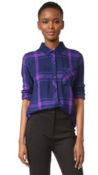 Rails Hunter Button Down Shirt Navy Ultraviolet