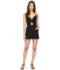 6 Shore Road Noontime Romper Cover Up Black Rock Women's Jumpsuit And Rompers One Piece