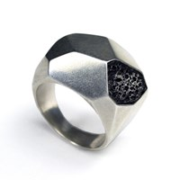 Carrie Bilbo Jewelry Silver Geometric Ring