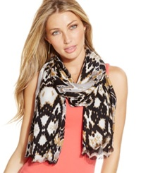 Inc International Concepts Printed Pashmina Wrap Black Multi