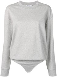 Alexander Wang T By Sweater Bodysuit Grey