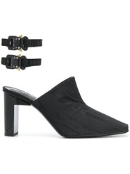 Alyx Ankle Strap Mules Black