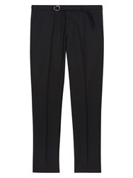 Valentino Black Wool Trousers With Belt